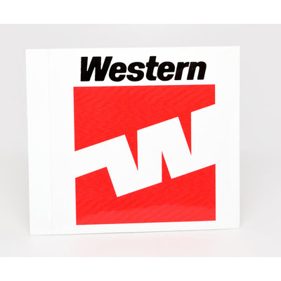 Western 70's Flying W Logo Sticker