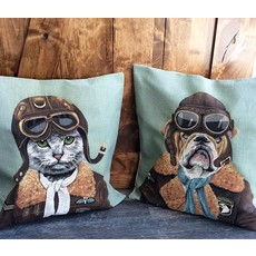 Tapestry Cushion Cover Top Gun Cat