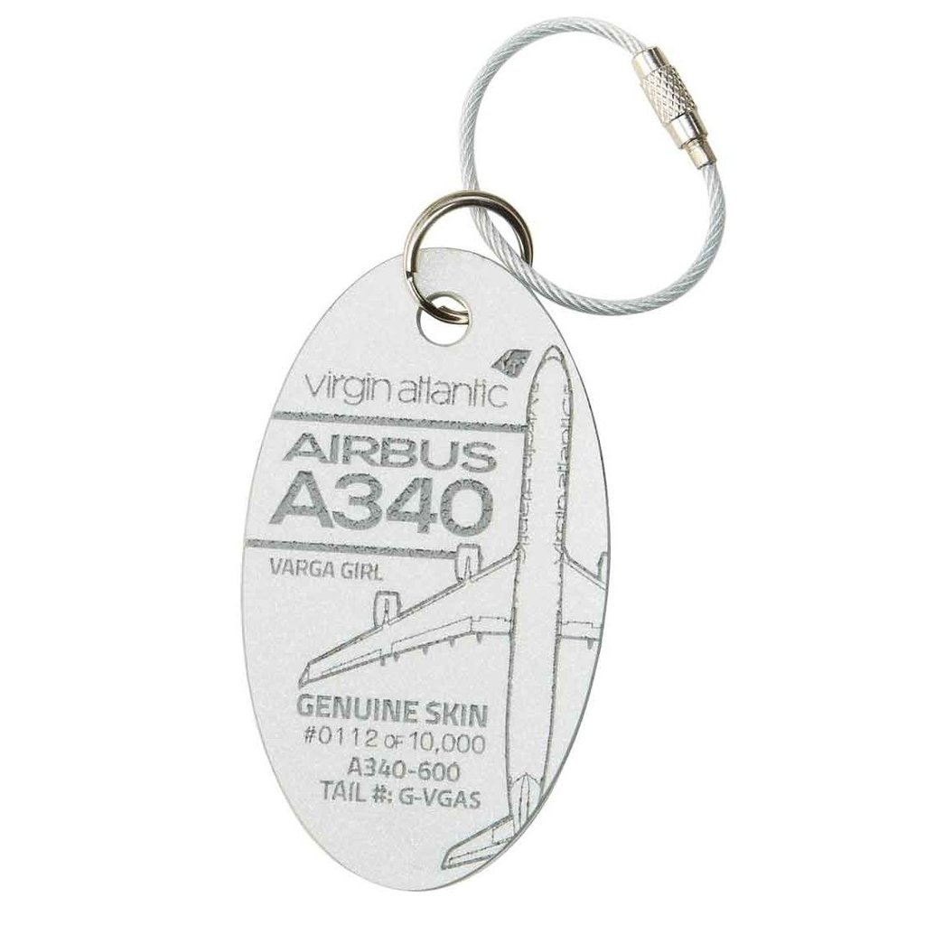 Airbus 320  Varga Girl PlaneTag Limited Edition-Pearl White