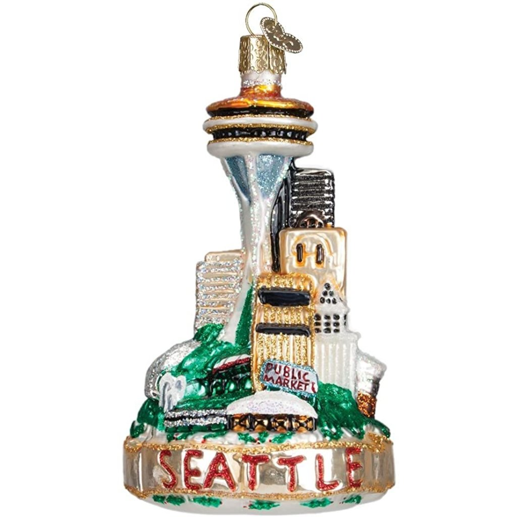 Old World Christmas Seattle Skyline Ornament