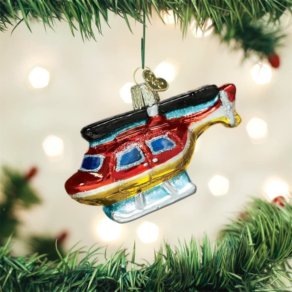 Old World Christmas Helicopter Ornament