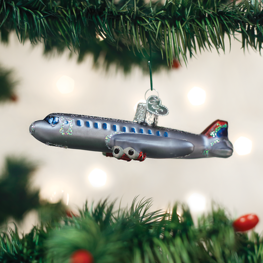 Old World Christmas Passenger Plane Ornament