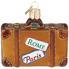 Old World Christmas Suitcase Ornament