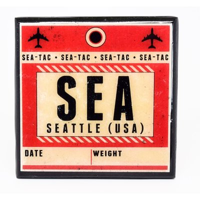 SEA (USA) Vintage Coaster-Red