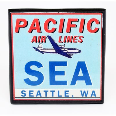 SEA (Pacific Airlines) Vintage Coaster