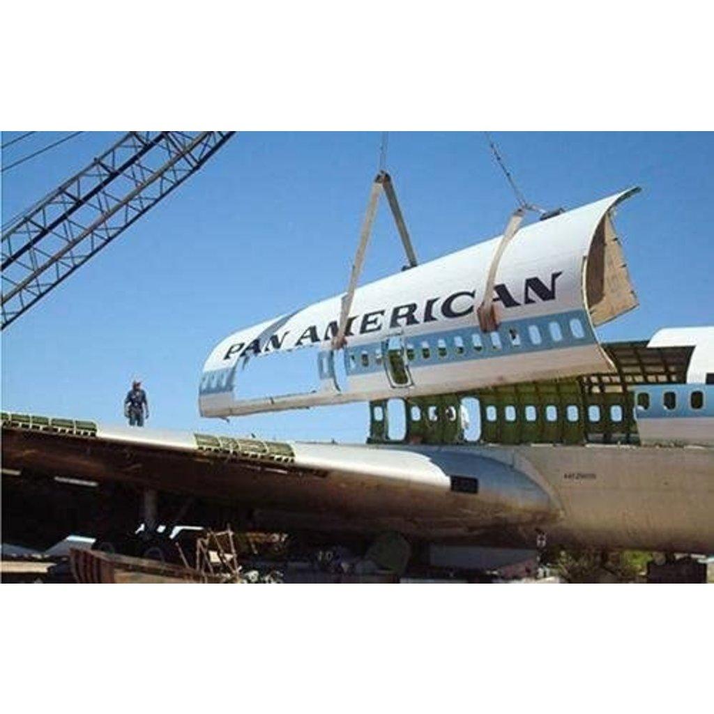 Pan Am 707 Fuselage Luggage Tag Brushed
