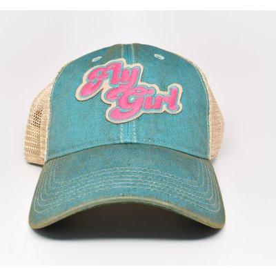 Fly Girl Cap  Aqua