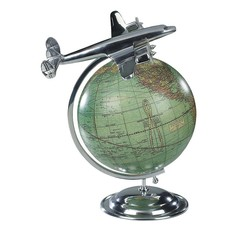 """On Top of the World"" Airplane & Globe Desktop Model"