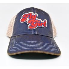 Fly Girl Cap Denim Blue