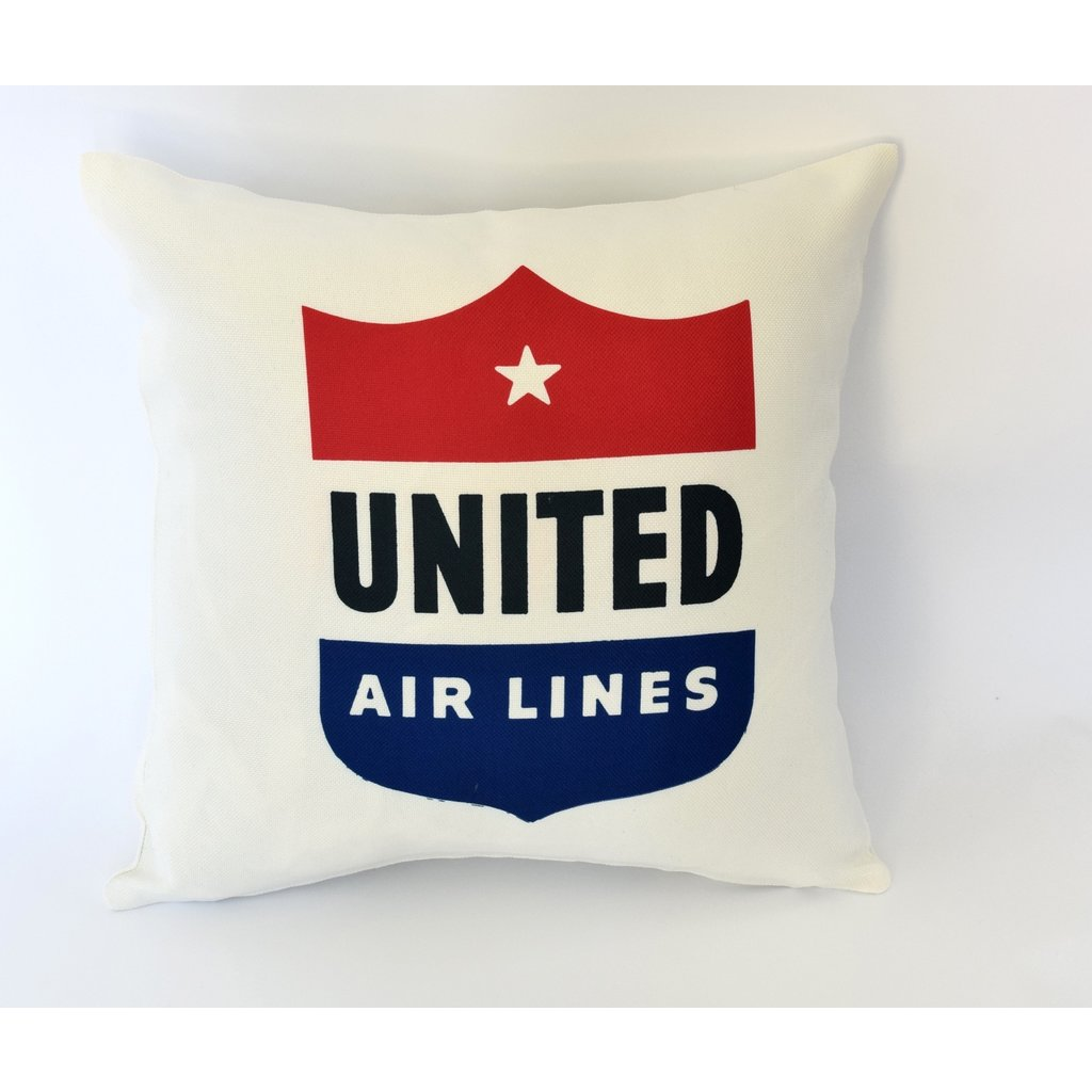United 40's Logo Linen Pillow Cover