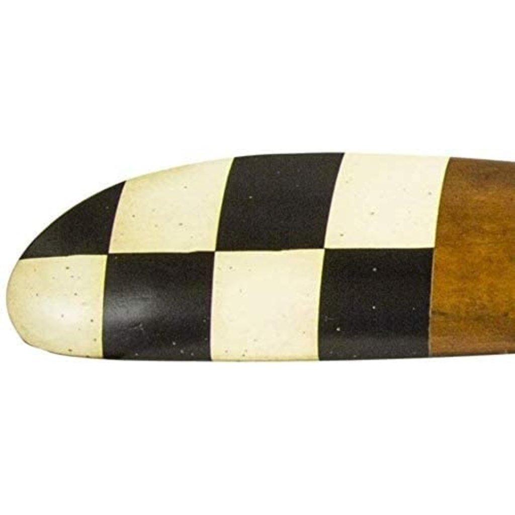 Barnstormer Propeller # 3 - Ivory & Black Checkered