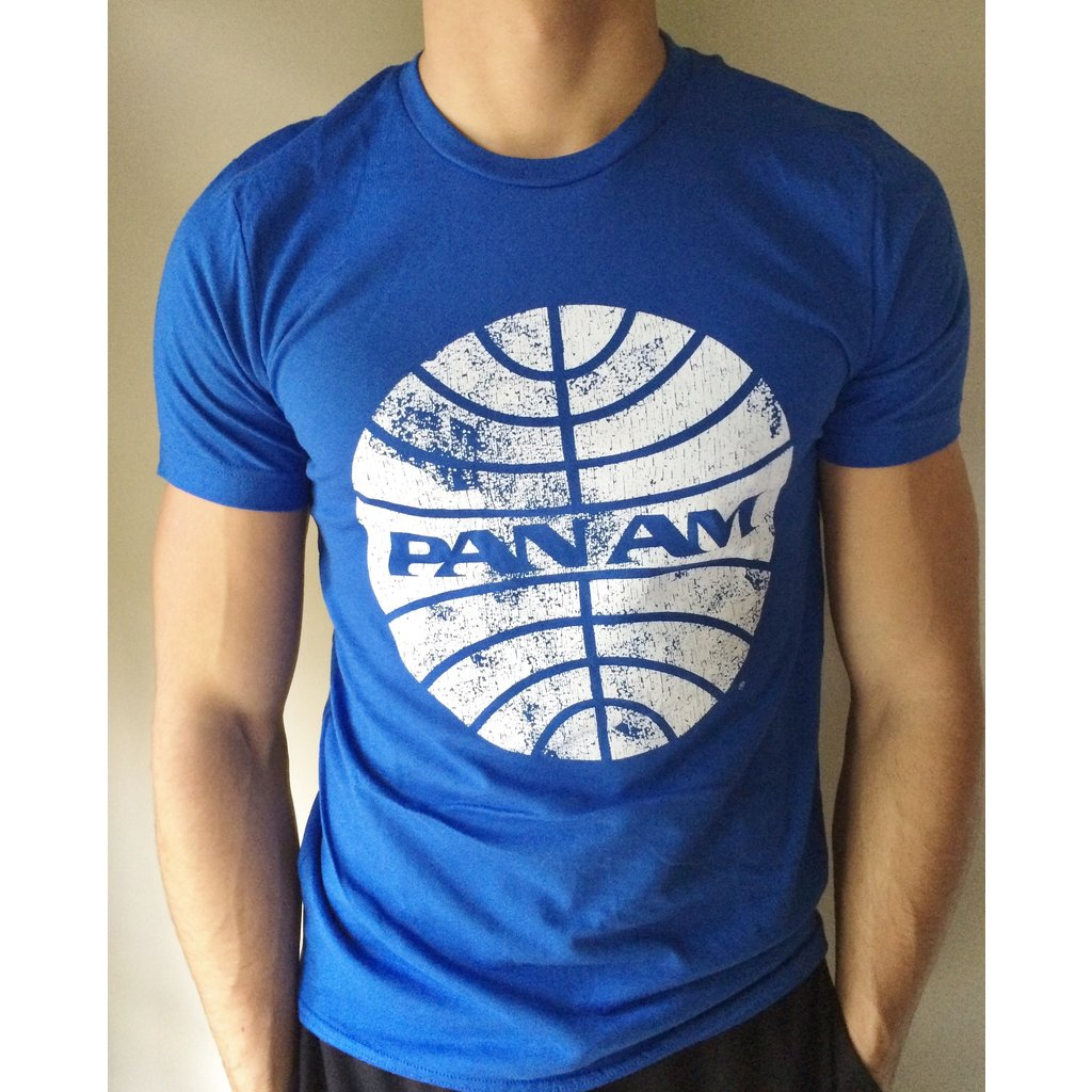 Pan Am Mens Blue Globe T-Shirt