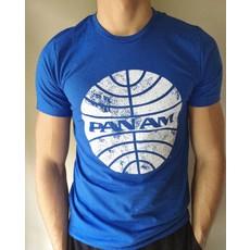 Pan Am Mens Blue Globe T-Shirt
