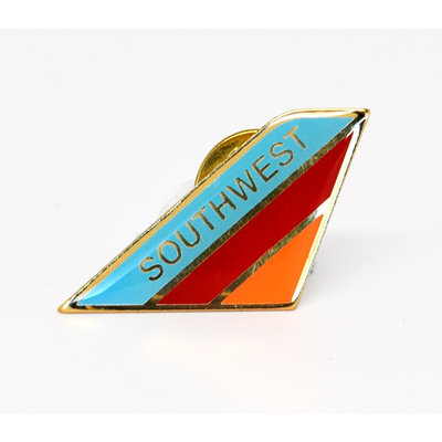 Lapel Tail Pin Southwest Canyon Blue