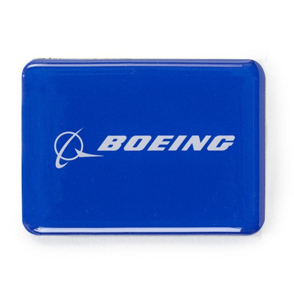 Boeing Logo Metallic Blue Magnet