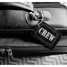 CREW Bag Tag Key Chain- Black