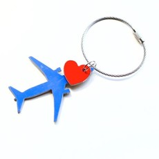 Southwest B737 Aircraft and Heart Bag Tag Key Chain