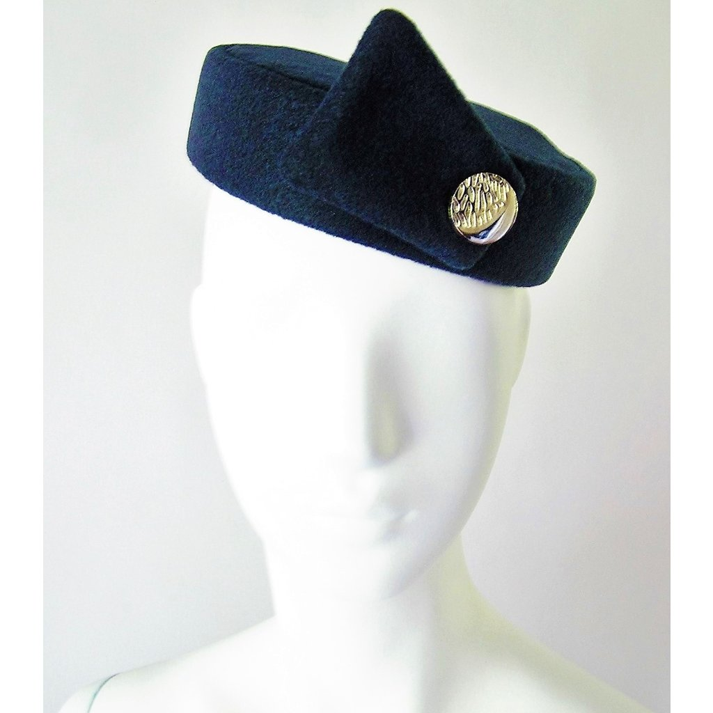 Flight Attendant Pill Box Hat: Size M Navy