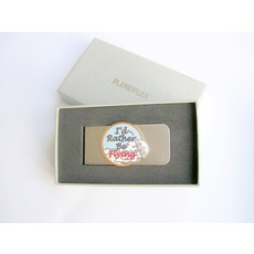 PW Nickel Finish Money Clip- I'D RATHER BE FLYING