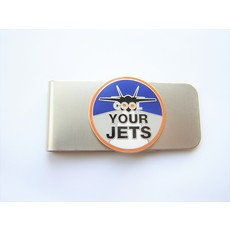 "PW Nickel Finish MONEY CLIP  ""COOL YOUR JETS"""