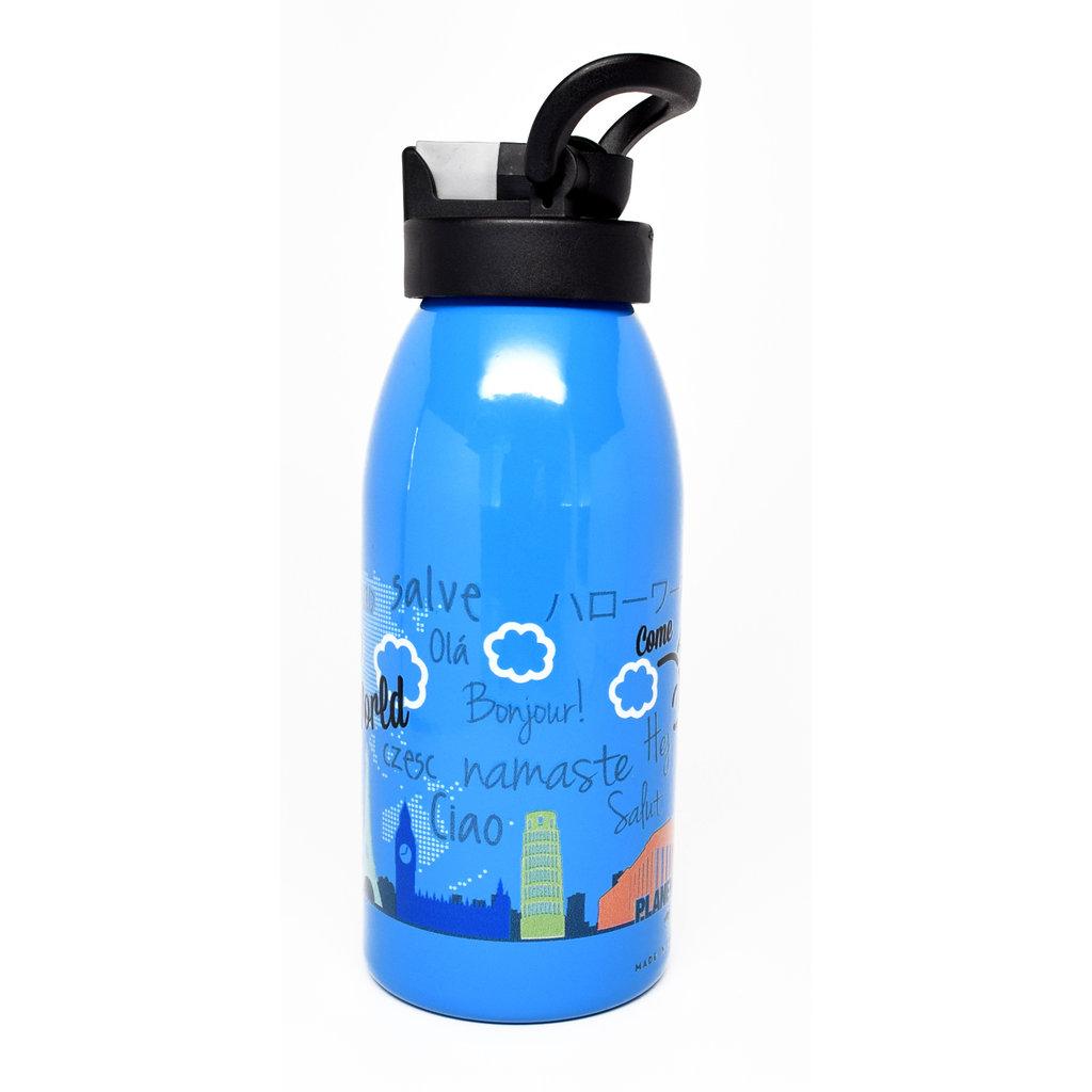 Kids  Around The World Water Bottle blue