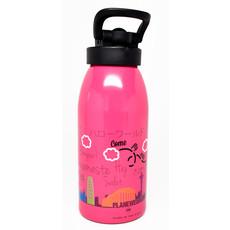 Kids  Around The World Water Bottle Pink