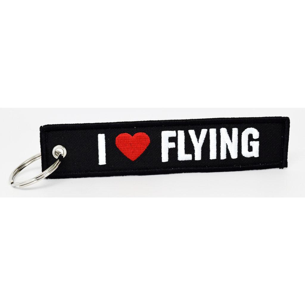I Heart Flying Key Chain