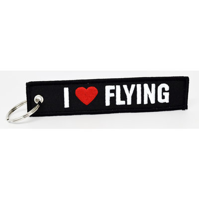 I Heart Flying Key Chain