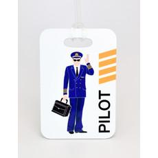 """Jimmy"" Jumpseat Pilot Luggage Tag"