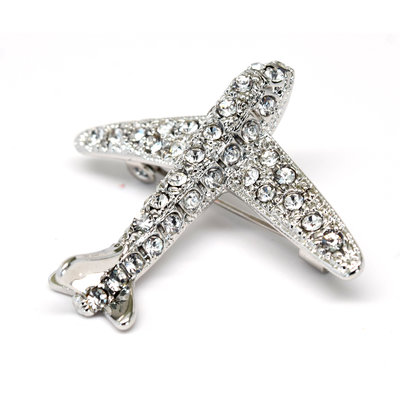 Swarovski Airplane Brooch
