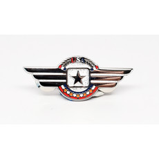 Silver Wings with Star Pin