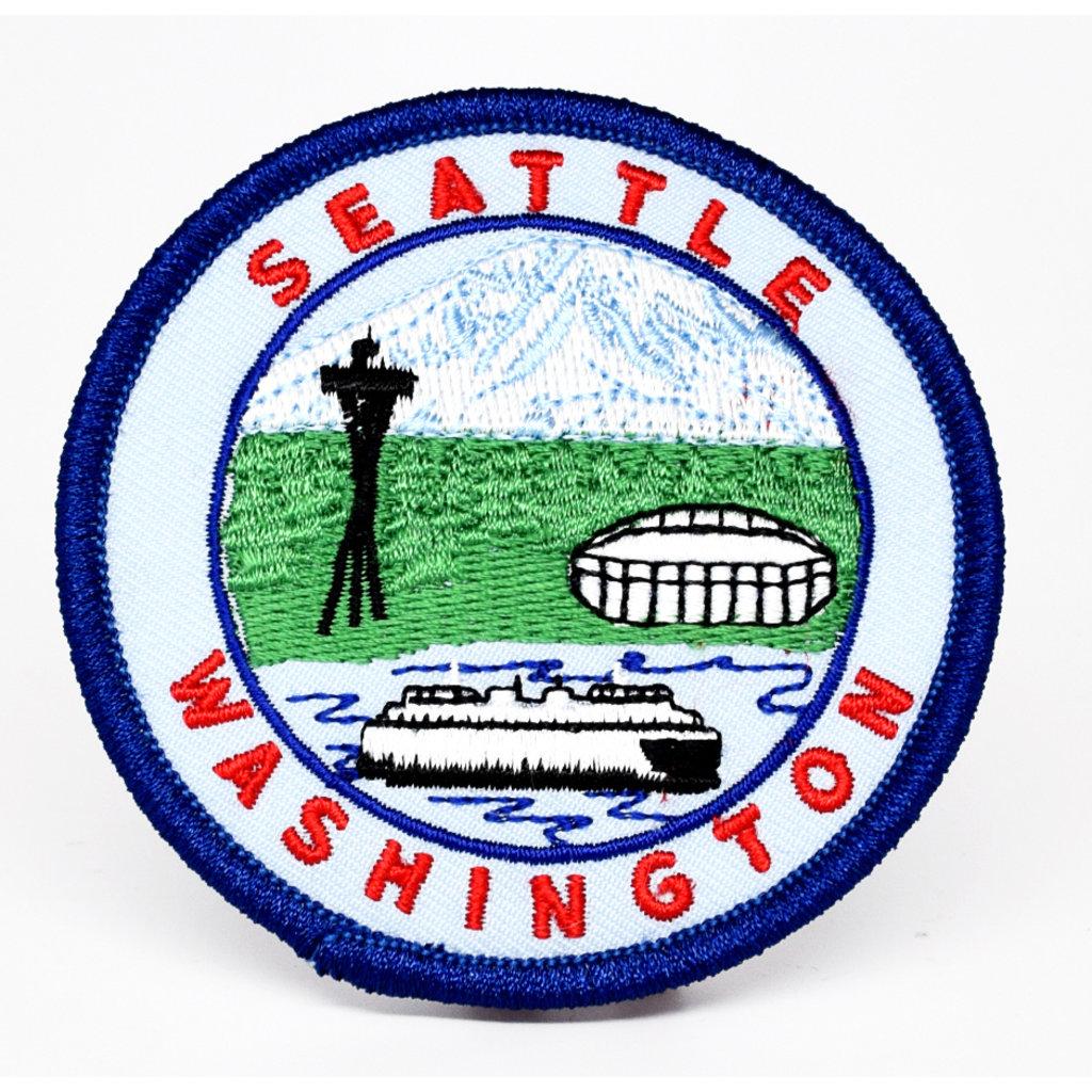 Washington Ferry, Mt Rainier, The Needle, Stadium Patch