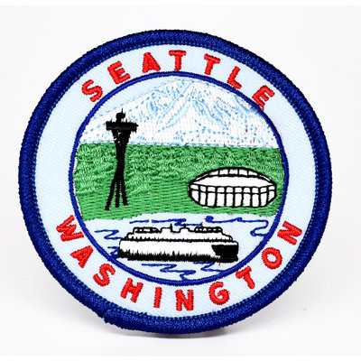 Washington Ferry, Mt Rainier, The Needle, Stadium Patch