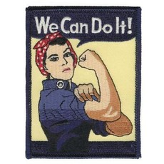 Rosie We Can do It (WWII Lady)  Patch