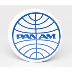 SkyTag Magnet Globe Pan Am Blue-on-White
