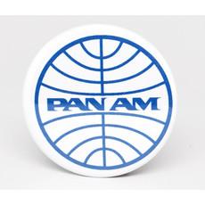 SkyTag Magnet Globe Pan Am White