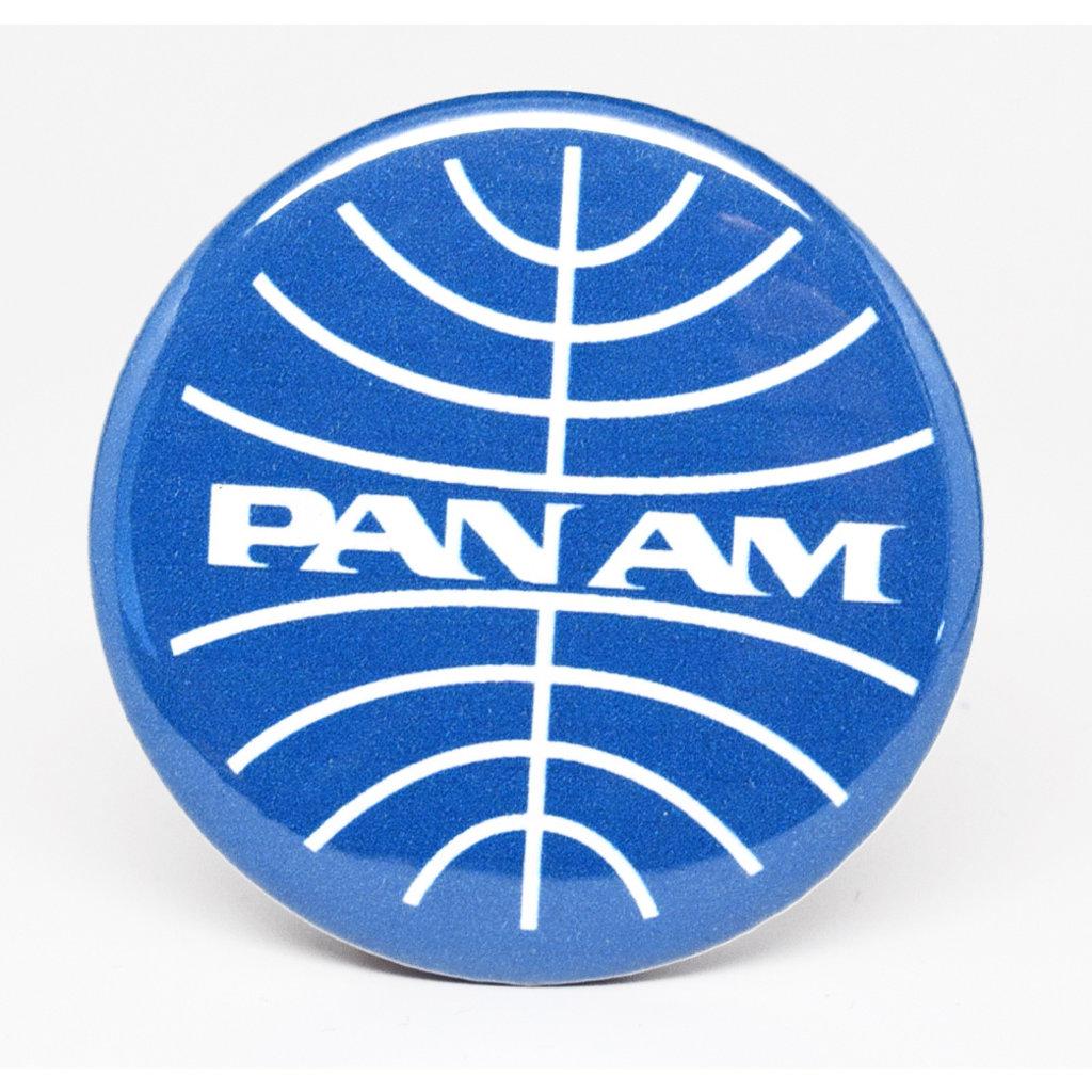 SkyTag Magnet Globe Pan Am White-on-Blue