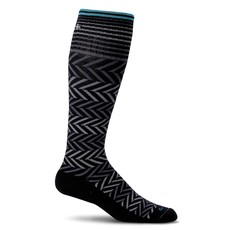 Compression Socks Women's Chevron Black Medium/Large