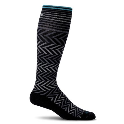 Compression Socks Women's Chevron Black Medium/Large