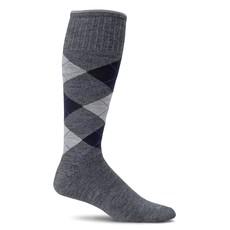 Compression Socks Men's Argyle Charcoal Large/Extra Large