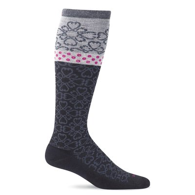 Compression Socks Women's Botanical Black Medium/Large