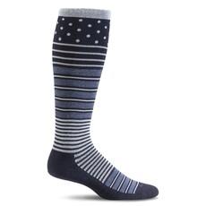 Compression Socks Women's Twister Navy Medium/Large