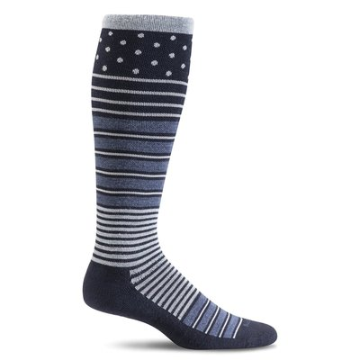 Compression Socks Women's Twister Navy Medium/Large