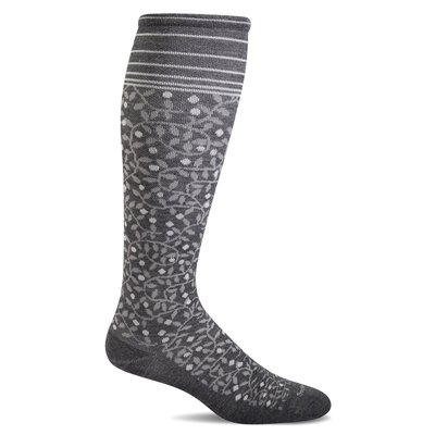 Compression Socks Women's New Leaf Charcoal Small/Medium