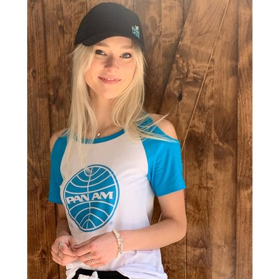Women's Pan Am Cold Shoulder Vintage Tee