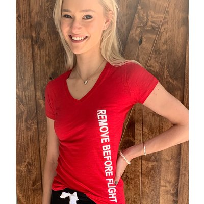 Remove Before Flight Womens T-Shirt