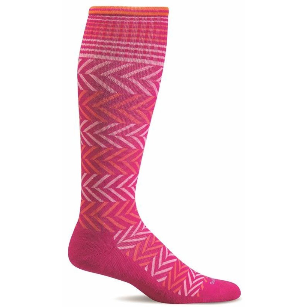 Compression Socks Women's Chevron Azalea Small/Medium