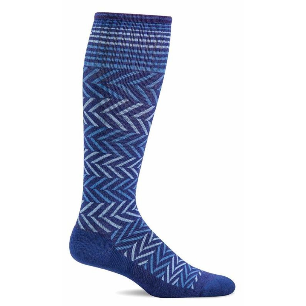 Compression Socks Women's Chevron Hyacinth Medium/Large