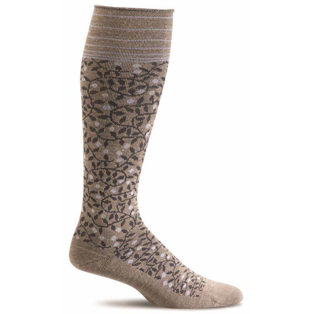 Compression Socks Women's New Leaf Khaki Small/Medium