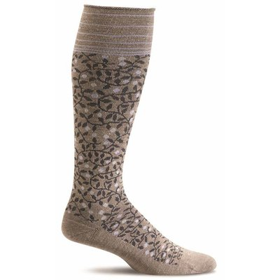 Compression Socks Women's New Leaf Khaki Small/Medium